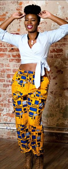 You'll want to wear these African print pants over and over again. The Ade pants are cut for a unisex fit that is slightly oversized for her, and a relaxed comfortable fit for him. African print pants, drawstring pants, ankara pants with pockets - The Ade Drawstring Pants. Ankara   Dutch wax   Kente   Kitenge   Dashiki   African prints   Nigerian style   Ghanaian fashion   Senegal fashion   Kenya fashion   Nigerian fashion   Ankara crop top (affiliate)