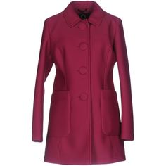 Up To Be Overcoat (6.935 RUB) ❤ liked on Polyvore featuring outerwear, coats, fuchsia, over coat, long sleeve coat, neoprene coat, single-breasted trench coats and purple overcoat