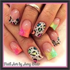 Bright summer acrylic nails | Nails | Pinterest | Acrylics ...  #nails #brightsummeracryrlicnails #summernails Bright Summer Acrylic Nails, Summer Nails, Nail Polish Designs, Nail Designs, Bling Nails, How To Do Nails, Cute Nails, Hair And Nails, Nail Art