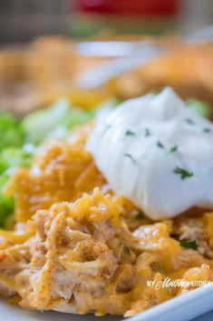 Taco Chicken Casserole (Low Carb, THM-S, Keto) #trimhealthymama #thm #thms #lowcarb #keto #taco #chickencasserole #tacocasserole #glutenrfree #easydinner