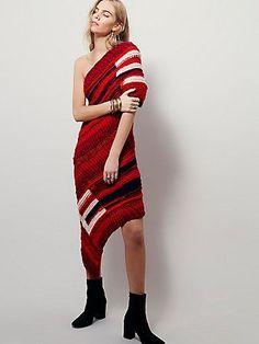 Red Sun Sweater Dress