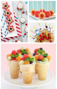 gezonde traktatie, schooltraktatie, feestelijke hapjes, feest - fruit - eten met…