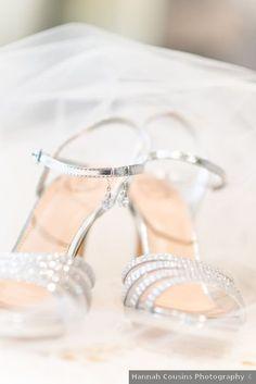 Wedding shoes ideas - silver, rhinestones, sandal, open toe, heels {Hannah Cousins Photography}