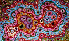 Aboriginal Artwork by Sally Clark. Sold through Coolabah Art on eBay