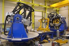 SYMETRIE - OAJ and PS2 telescopes with Sures Hexapods for M2 mirrors (inside black boxes)