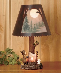 Stick Table Lamp; Rustic, Cabin, Lake, Lodge, Western, Southwest Furniture;  The Refuge Lifestyle | Lighting | Pinterest | Cabin