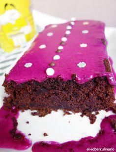 Pastel de remolacha y chocolate   Bizcocho original con frosting de remolacha y limón