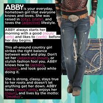 Meet ABBY...Fill-in-the-Blank #2!  We all have our own unique routines in the morning. What's ABBY's? #cruelcontest