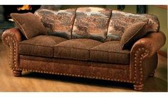 This couch but cabelas has it in a curved sectional. Dream couch. Cabela's Deluxe Rustic Retreat Sofa at Cabela's