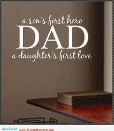 father and son saying – a first love want to say you something