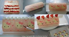 The instructions are in Japanese, but the pictures are amazing!!! ameblo: How to - kitty pattern on a swiss roll