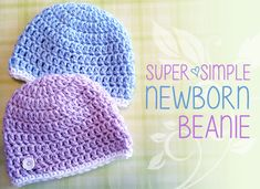 Carolyn was making this - Super Simple Newborn Beanie, Free Crochet Pattern; Charity Hat, Hats for Orphans (Free Crochet Pattern! Crochet Baby Beanie, Crochet Cap, Free Crochet, Newborn Crochet Hats, Double Crochet, Crochet Baby Hats Free Pattern, Preemie Crochet, Beginner Crochet, Crocheted Hats
