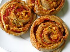 Cheesy whole wheat garlic herbed pizza rolls