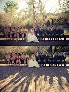 I especially like the shadow portion of the photo. #bridal #party #photography