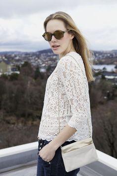 Inka Lace and Barbara Helsinki Jeans by Piezsak. Ace bag by Filippa K Sunnies by Kaibosh