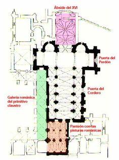 Planta de San Isidoro de León, colegiata y Panteón Real.
