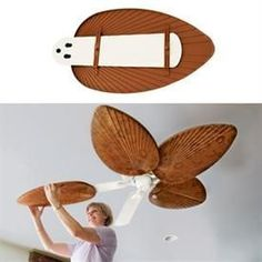 Neat Ceiling Fan Blade Covers I didn't know these existed! The post Ceiling Fan Blade Covers I didn't know these existed!… appeared first on Etty Hair Saloon . Ceiling Fan Blade Covers, Beach House Decor, Diy Home Decor, Decor Crafts, Decorative Ceiling Fans, Beach Room, Reno, Coastal Decor, Tropical Decor