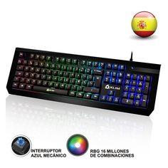 KLIM Domination - SPAIN - Mechanische RGB-Tastatur - NEU - 2017 - Blaue Tasten - Schneller, präziser, angenehmer Tastenanschlag - 5 Jahre Garantie  EUR 54,90