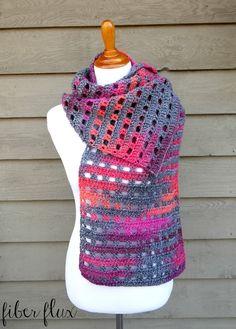 Fiber Flux: Free Crochet Pattern...Heathered Eyelets Wrap