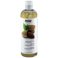 NOW solutions Sweet Almond Oil, Moisturizing Oil, 16 ounce - use while pregnant to reduce stretch marks Aloe Vera Face Moisturizer, Aloe Vera Face Wash, Aloe On Face, Natural Moisturizer, Almond Oil Uses, Sweet Almond Oil, Homemade Sunscreen, Dark Circle Cream, Vitamins For Skin