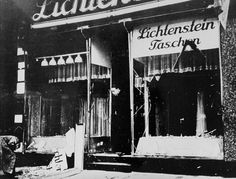 Kristallnacht was a pogrom (a series of coordinated attacks) against Jews throughout Nazi Germany and parts of Austria on 9–10 November 1938, carried out by SA paramilitary and civilians. German authorities looked on without intervening.The attacks left the streets covered with broken glass from the windows of Jewish-owned stores, buildings, and synagogues