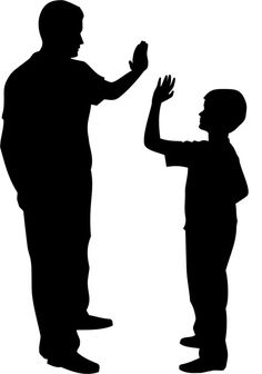 Quickly and easily create a fun and unique design on walls anywhere you desire with our Father and Son Silhouette Painting Stencil!
