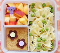 Bento for baby - fruit would have to peeled for T-dog but I like this idea