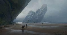 Shore of the Ancient Ones + Video, Tuomas Korpi on ArtStation at https://www.artstation.com/artwork/shore-of-the-ancient-ones-video