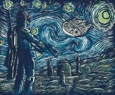 Boba Fett Starry Night  Star Wars