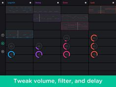 Auxy: Beat Studio auxy 제작 아주 간편하게 음악을 만들 수 있는 어플 디자인도 멋짐