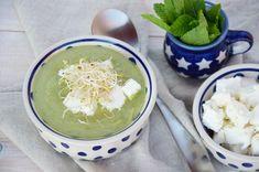 Zupa krem z groszku z fetą i kiełkami