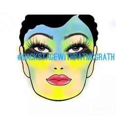 Isaac Meyers is creating all of Pat McGrath's runway looks on FaceCharts. Pat Mcgrath Makeup, Celebrity Makeup, Halloween Face Makeup, Face Charts, Celebrities, Artist, Runway, Beauty, Make Up