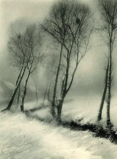 Léonard Misonne, Winter, Belgium