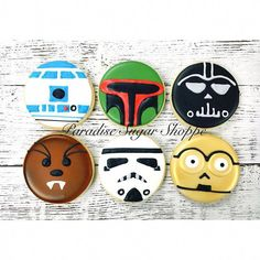 Star Wars decorated cookies by Paradise Sugar Shoppe. Original design by Color m - Star Wars Cookie - Ideas of Star Wars Cookie #starwarscookie #starwars #cookies - Star Wars decorated cookies by Paradise Sugar Shoppe. Original design by Color me cookie. #sugarbellecookies