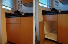 Great idea! A Kitchen Laundry Chute.