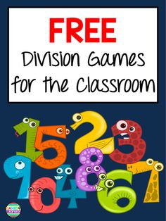 Free Division Games for your classroom. These division activities develop division fact fluency while students play. Great for a division center, homework or fast finishers. Division For Kids, 3rd Grade Division, Teaching Division, Division Activities, Division Games, Third Grade Math, Teaching Math, Grade 3, Fourth Grade