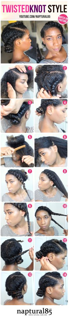 Naptural85 - Natural Hair Care Tips - Blog Content - Twisted Knot Protective Style Natural Hair | Winter + Summer Hairstyle -Naptural85