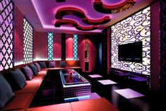 Lighting Designer | design bar lighting design rendering night bar lighting and sofas