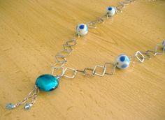 Collares largos - Collar con cadena de plata 925 y cristal - hecho a mano por…