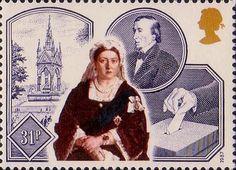 Victorian Britain 31p Stamp (1987) Albert Memorial, Ballot Box and Disraeli