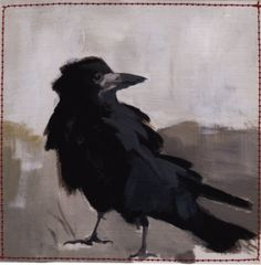 Smokey crow by Claire Elsaesser on ETSY