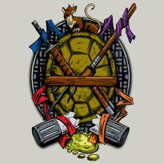 Turtle Family Crest by djkopet Teenage Mutant Ninja Turtles shirt