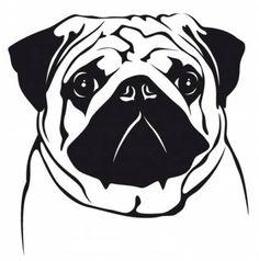 Wandtattoos Hunde Wandtattoo: Mops 5, 20x30cm, schwarz Silhouette Curio, Dog Silhouette, Silhouette Cameo Projects, Silhouette Design, Pugs, Mops Tattoo, Birthday Pug, Pug Tattoo, Animal Templates