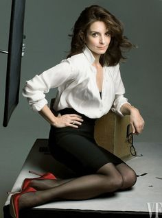 Tina Fey, photographed by Annie Leibovitz in New York City for Vanity Fair January 2009.