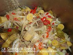 Guineos en Escabeche con Mollejas Tradicional Puertorriqueño