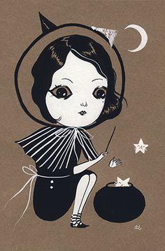 Kitten Conjurer by Amy Earles