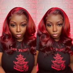 Lace Front Wigs, Lace Wigs, Colored Wigs, Body Wave Wig, 100 Human Hair Wigs, Lace Hair, Red Hair Color, Peruvian Hair, Wig Hairstyles