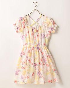 LIZ LISA Off shoulder Fruits Pattern Dress Sweet street Lolita Kawaii Japan #LizLisa #PeplumTunic #Shibuya109fashion
