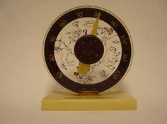 Vintage Bakelite Zodiac Thermometer
