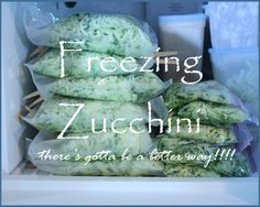 Freezing Zucchini Tutorial and recipes for using it!